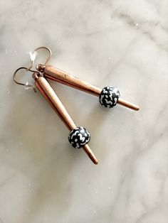 Spiked Earrings by dstonedesigns on Etsy