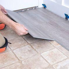Installing Vinyl Plank Flooring, Diy Flooring, Inexpensive Flooring, Vinyl Flooring Bathroom, Flooring For Basement, Kitchen Laminate Flooring, Cheap Flooring Ideas Diy, Cheap Remodeling Ideas, Bathroom Wall Ideas