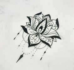 Эскиз татуировки лотос