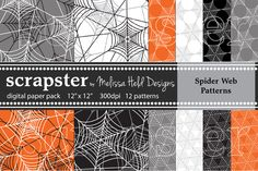 Check out Spider Web Patterns by scrapster on Creative Market
