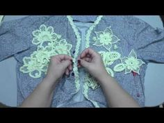"Irish lace Уроки вяз крючком ирландского кружева 2Урок Вяжем жакет""Какао"" 1ч-композиция - YouTube"