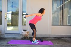 Great home workout to target back fat during pregnancy.