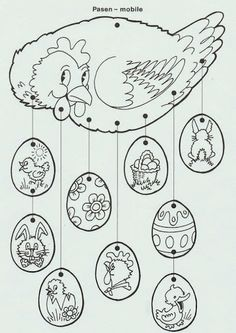 61 Trendy craft for kids spring coloring pages Spring Coloring Pages, Easter Coloring Pages, Colouring Pages, Coloring Books, Easter Arts And Crafts, Spring Crafts, Easter Bunny, Easter Eggs, Chicken Crafts