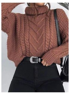 Trendy Fall Outfits, Cute Comfy Outfits, Casual Winter Outfits, Winter Fashion Outfits, Retro Outfits, Look Fashion, Outfits For Teens, Stylish Outfits, Winter Sweater Outfits