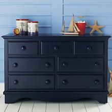 The Land of Nod | Kids' Dressers: Kids 7-Drawer Painted Dark Blue Walden Dresser in Furniture