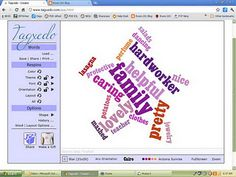Tagxedo for Making Word Clouds (similar to Wordle, but you can make cloud into different shapes)--so cool!