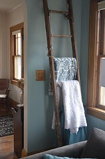 Ladder quilt rack .... finally no more throws all over my furniture.