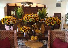 Sunflower arrangements @ The Montage Hotel