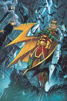 Dc Comics Rebirth: Teen Titans Damian Wayne By Jonboy Meyers - Visit to grab an amazing super hero shirt now on sale! Nightwing, Batwoman, Batgirl, Batman Y Superman, Son Of Batman, Batman Family, Batman Robin, Robin Superhero, Damian Wayne