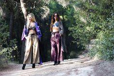 Katerina (Left) : Flo Bra-Top - Alaqua Pants - Orenda Kimono / Giannita (Right) : Flo Bra-Top - Alaqua Pants - Nuttah Coat / Photo by : Theo Vranas