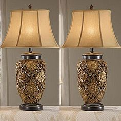 @Overstock - Add sophistication to any room in your home with this set of beautiful table lamps. With a silk shade and multicolor antique finish, the elegant Flostic set is a lighting option that complements many decors.http://www.overstock.com/Home-Garden/Flostic-33-inch-Antique-Table-Lamps-Set-of-2/5027951/product.html?CID=214117 $142.99