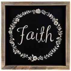 Faith Wood Sign with Floral Wreath Design Hobby Lobby Framed Wall Art, Word Wall Art, Hobby Lobby Christmas, Wall Decor Online, Wooden Wall Art, Wall Decor, Floral Wreath Design, Wood Wall Decor, Wreath Designs