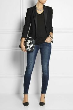 Business Outfit Frau skinny jeans