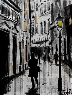 "Saatchi Art Artist Loui Jover; Drawing, ""ruelle"" #art"