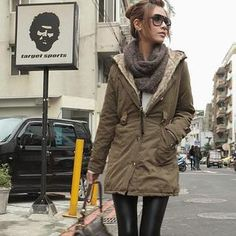 faux fur army coat