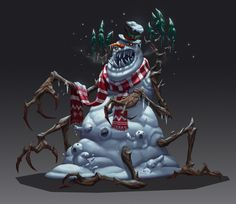 ArtStation - Merry Christmas, Nitro . Creature Concept, Winter Holidays, Snowman, Merry Christmas, Santa, Creatures, Artwork, Fictional Characters, Sketches