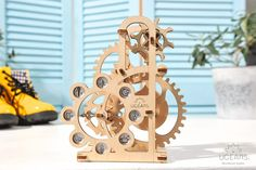 Ugears Dynamometer. You can find it at kooqie #Ugears #kooqie #cookie #dynamometer #puzzle #3dpuzzle