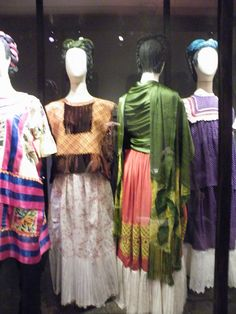 Frida Kahlo's clothes found hidden in a wardrobe in the blue house in the 80's. photo by caoba
