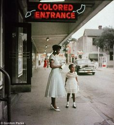 Gordon Parks Beauty (mother) and the ugliness of American history (segregation)