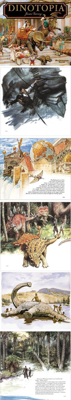 James Gurney's Dinotopia 20th Anniversary Edition - Who can forget the incredible detail of each piece of artwork that made up this incredible series.  This gave young adult audiences a wonderful addition to the fantasy genre, and a more mature tale than most other forays.
