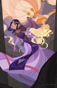 The Legend of Zelda: A Link Between Worlds, Princess Zelda and Princess Hilda / Wisdom's Mirror by nna on deviantART