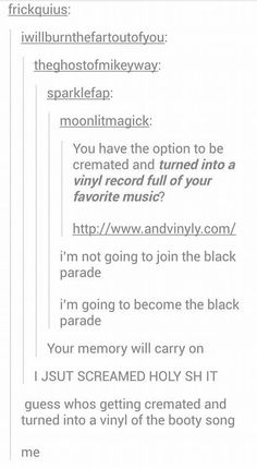 I'm not even kidding someone make his happen for me. ._. I wanna march on after death. Forever.: Tumblr Stuff, My Tumblr, Tumblr Funny, Shrek Funny, Hilarious, Twenty One Pilots, Funny Posts, My Chemical Romance Tumblr, Tumblr Romance