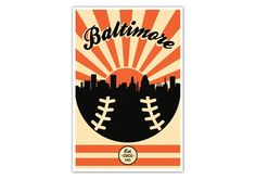 "Baltimore orioles vintage baseball #poster - 24"" x 36"" #matte #paper print,  View more on the LINK: 	http://www.zeppy.io/product/gb/2/172252335800/"