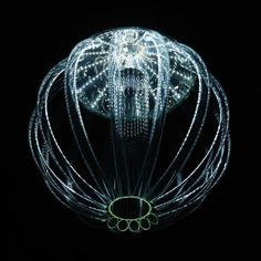 The bioluminescence of deep sea organisms is a magical thing to behold. Czech designer Kateřina Smolíková captures this wonder of nature beautifully in her breathtaking glass chandelier design, lit by energy-efficient LEDs.