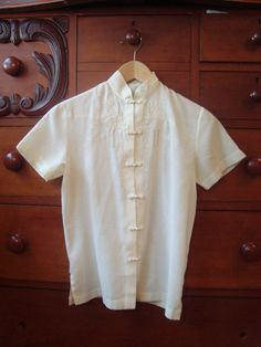 vintage blouse // cream embroidered blouse by birdiesaid on Etsy, $20.00