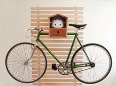 Den Fahrrad zu Hause richtig aufbewahren holz