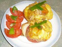 Brötchen mit Thunfisch und Käse überbacken