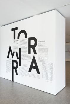 Exhibition space, TORMIAR. Festiwal of Architecture and Design Visual Identity by Karolina Ryfka