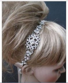Ivory-Satin-Crystal-Rhinestone-Headband-Headpiece-Wedding