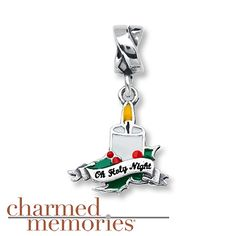 Charmed Memories Candle Charm Sterling Silver
