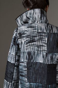 Amy Nguyen Textiles - CLOTHING (Silk organza quilted pieced shibori coat.)