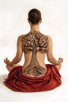 Henna Body Art | Henna Tree of Life. Photography by Adam Emperor Southard