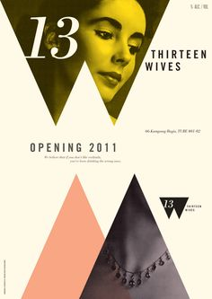 Thirteen Wives mixology bar posters, by Foreign Policy Design Group