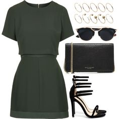 A fashion look from September 2016 featuring Topshop dresses, Liliana sandals and Marc Jacobs shoulder bags. Browse and shop related looks.