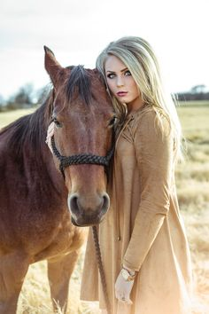 Senior picture ideas   senior pose   senior with horse   model with horse   gorgeous unique photography   ranch   country   field   Texas photographer   Declaring His Glory photography   fashion   outfit ideas   blue eyes   blonde