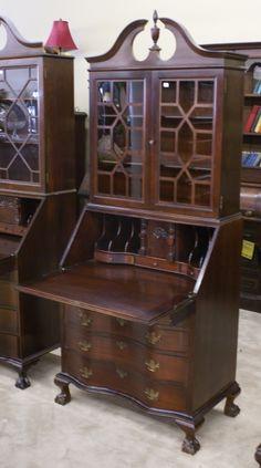 Heir And Space Gray Painted Secretary Desk Desks
