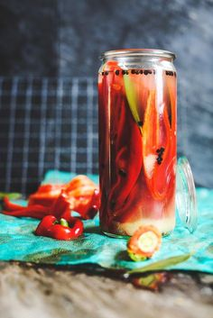 pickled red Italian sweet pepper