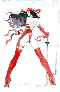 Elektra by Joe Madureira and Bill Sienkiewicz