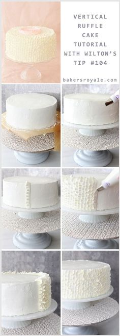 Buttercream Ruffle Cake Tutorial by @Bakers Royale