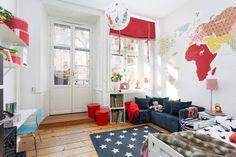 wow! FUN boy's room #redbluewhite