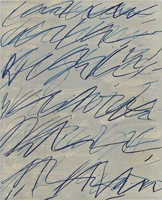 "Cy Twombly - Example for this Art Call: ""Pure Abstraction"" Art-Competition.net: Announces a call to artists for an Abstract Group Exhibition consisting of 10 artists. Submission Deadline: 09/15/2014 - www.art-competition.net"