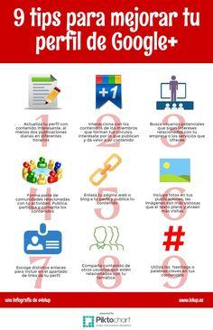 Interesante infografía con consejos para optimizar nuestro perfil de Google+ y también para sacar más provecho a nuestras publicaciones en esta comunidad.
