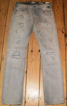 Mens Replay Jeans 29 30 31  Waitom Authentic Heavily Distressed RRP£149 REDUCED