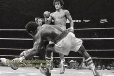 Common sight at a Salvador Sanchez fight. Here Azumah Nelson hits the canvas. It was the last fight for Sanchez. He died 3 weeks later. Visit us on facebook Boxing Hall of Fame Las Vegas Boxinghalloffame.com