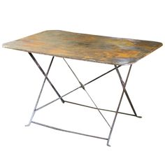 Metal Bistro Table | From a unique collection of antique and modern tray tables at https://www.1stdibs.com/furniture/tables/tray-tables/