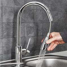 Sauber Baden Pull Out Kitchen Mixer Tap Kitchen Mixer Taps, Sinks, Kitchens, Flat, Laundry Rooms, Bath, Bathing, Vanity Basin, Kitchen